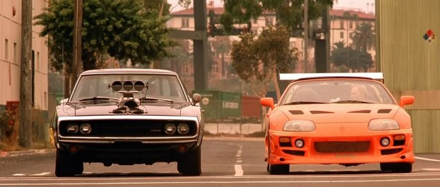 The final showdown. Multiple movies in this franchise end with ridiculous races involving cars that should never race one another.